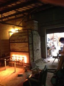 Kiln During Firing